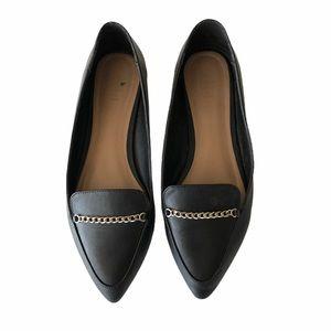 Call It Spring Black Vegan Leather Flats 9